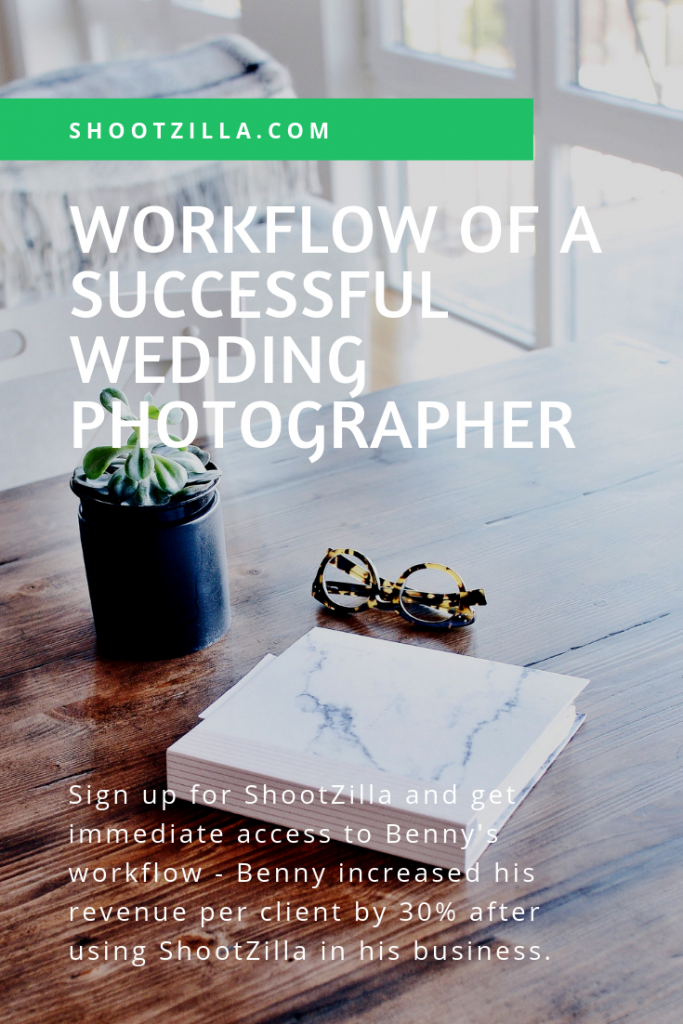 workflow of a successful wedding photographer