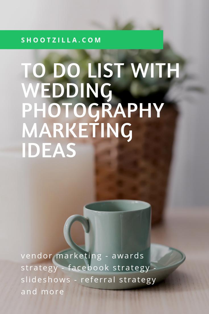 to do list wedding photography marketing