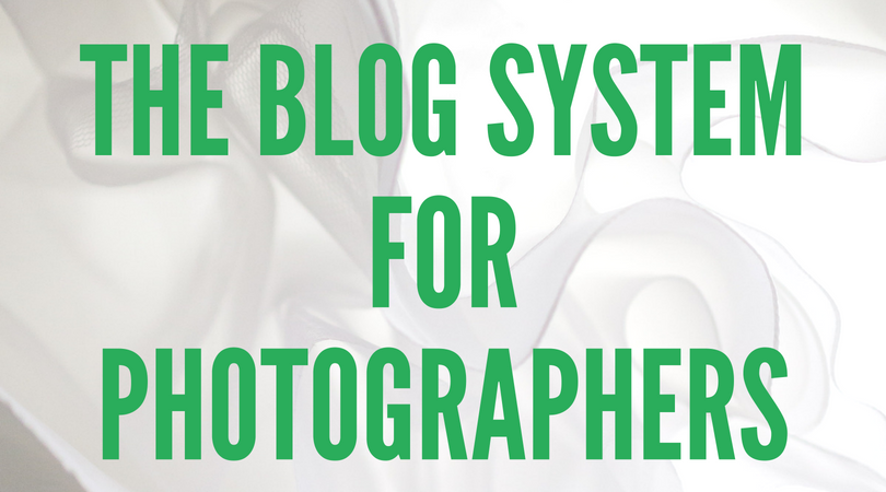 Blog course for photographers